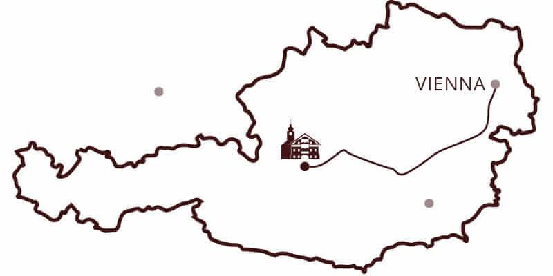 Karte von Wien nach Kulmwirt