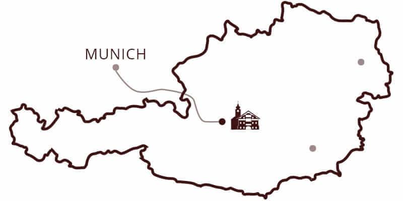 Karte von München nach Kulmwirt